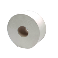 Compare prices for 2Work White Jumbo 2 Ply Toilet Roll 410 Metre Pack of 6 KF03810