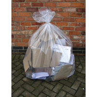 Compare retail prices of 2Work Clear Wheelie Bin Liner Pack of 100 KF73374 to get the best deal online