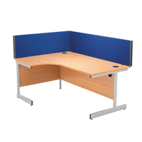 Compare prices for Jemini 1200mm Blue Straight Desk Screen KF73913