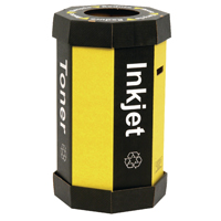 Compare prices for Acorn Black Cartridge Yellow Recycling Bin 60 Litre Pack of 5 05978
