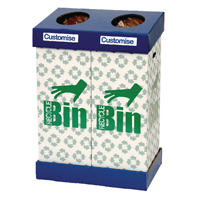 Compare prices for Acorn Office Twin Recycling Bin Blue Green 802853