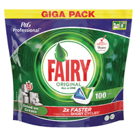 Compare retail prices of 2Work Fairy Original Dishwasher Tablets 8001090215543 to get the best deal online