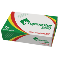 Compare prices for Wrapmaster 3000 Cling Film Refill 300mx30cm Pack of 3 31C80