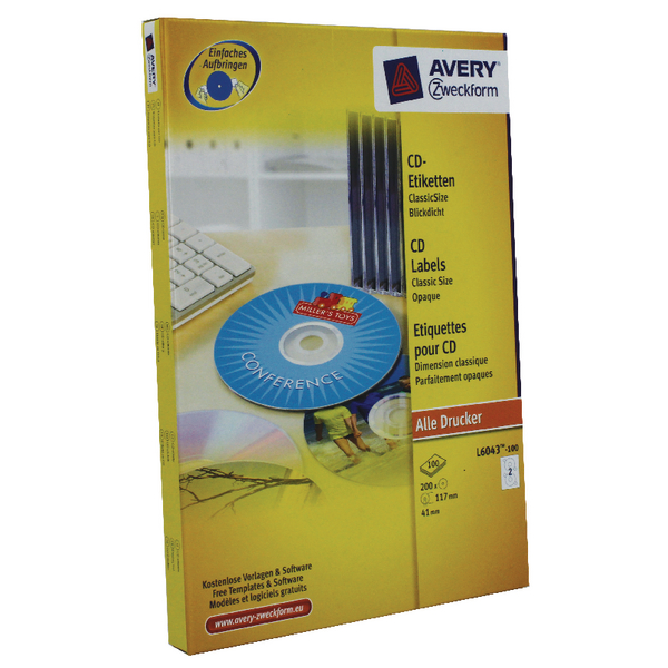avery cd dvd laser labels 2 labels per sheet classic size pack of