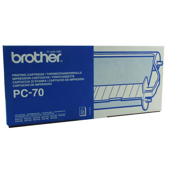 ORIGINAL PC-72RF BLACK  FOR BROTHER FAX MACHINES