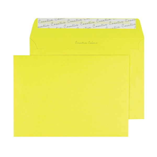 C5 Wallet Envelope Peel and Seal 120gsm Banana Yellow ...