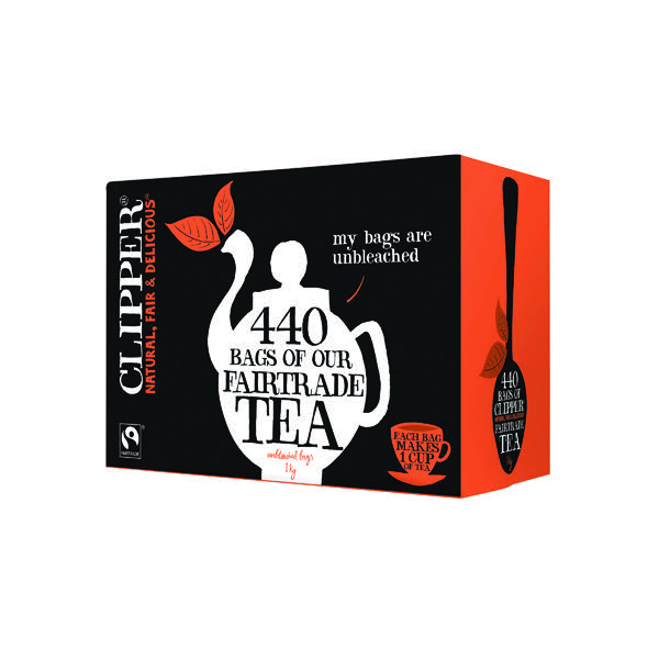 Clipper Fairtrade Everyday Tea Bags Pack Of 440 A06816