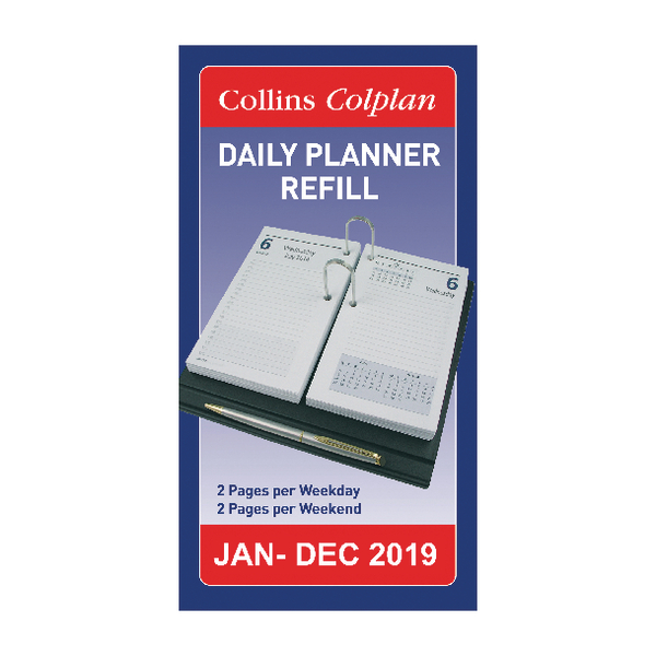 Collins Colplan 2019 Daily Desk Planner Refill Cdpr Pat Hennerty