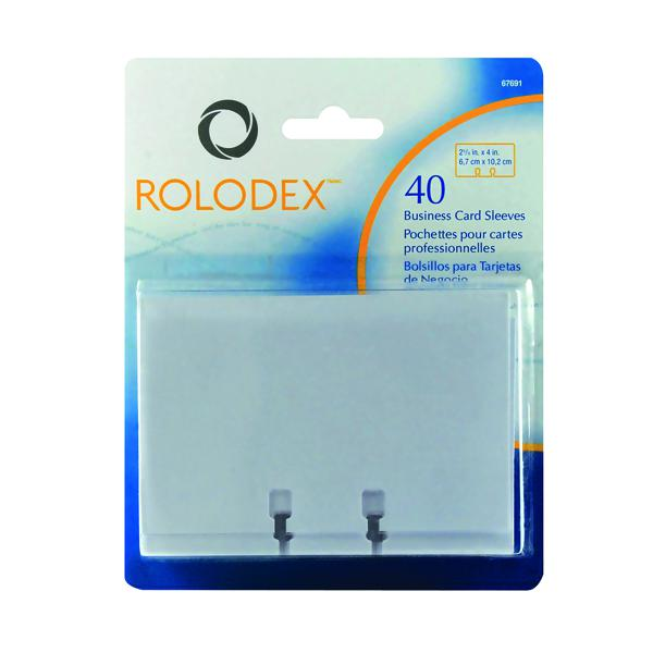 Rolodex Clear Business Card Sleeves Pack Of 40 S0793540