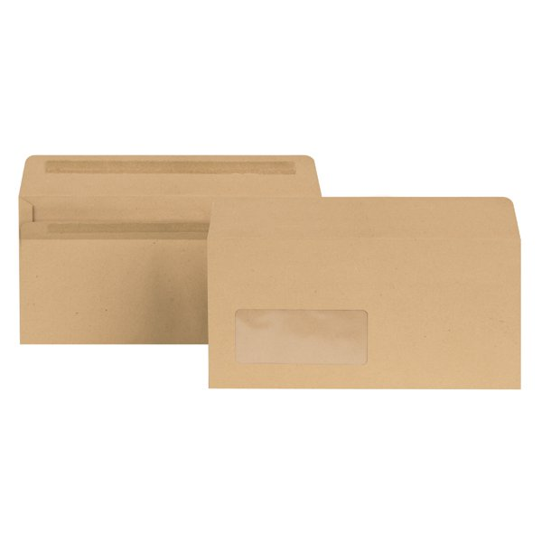 New Guardian Dl Window Envelopes 80gsm Self Seal Manilla Pack Of 1000 E22211