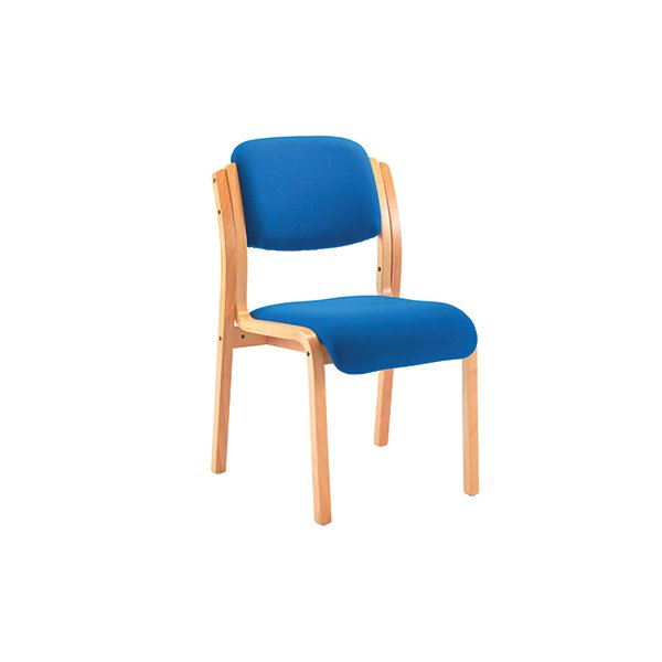 Jemini Blue Wood Frame Side Chair No Arms Kf03512 The Office Centre