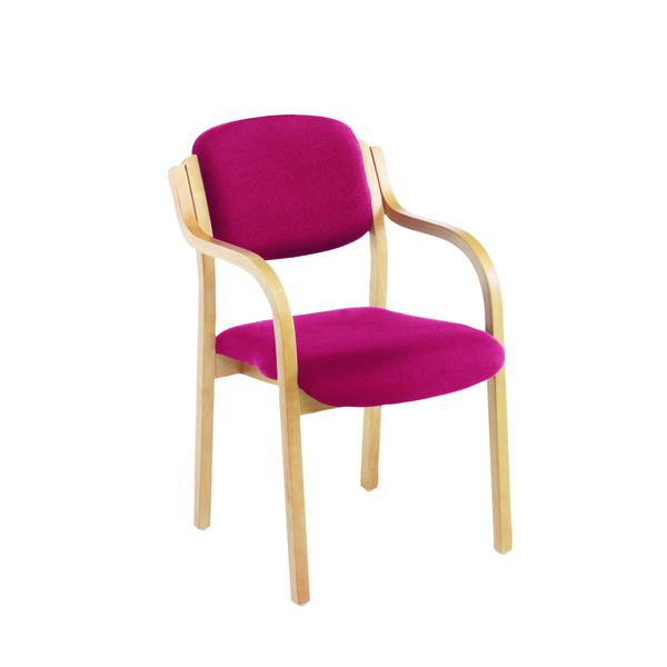 jemini claret wood frame side chair with arms kf03515 the office