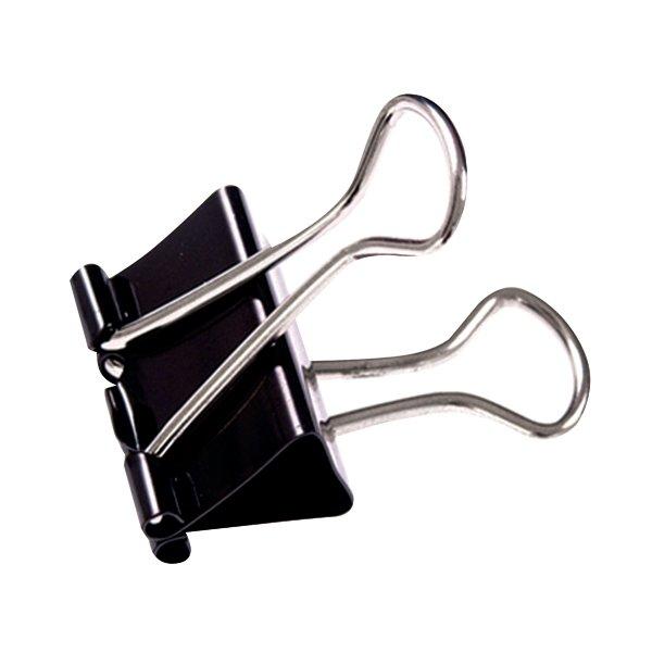 Q Connect 16mm Black Foldback Clip Pack Of 10 Kf03650