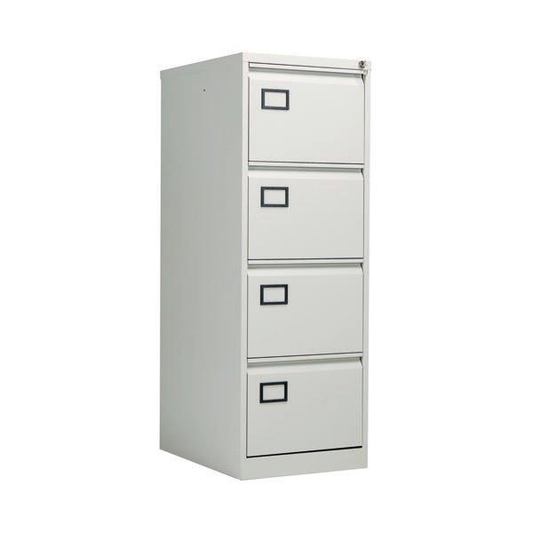Jemini 4 Drawer Filing Cabinet Grey Xk4b