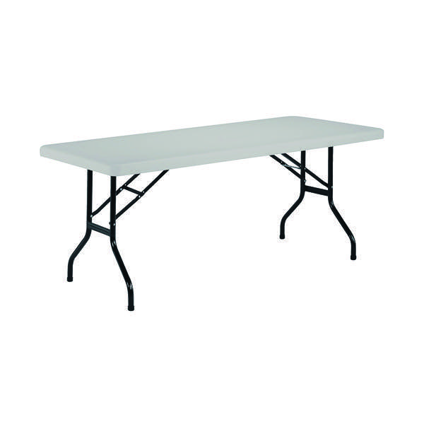Compare prices for Jemini 1220mm Folding Rectangular Table White KF72328