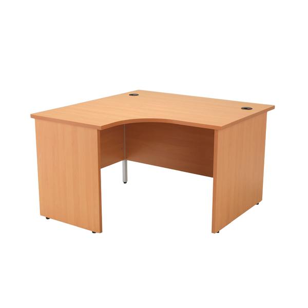 Jemini Beech Left Hand Panel End Radial Desk 1200mm Kf838057