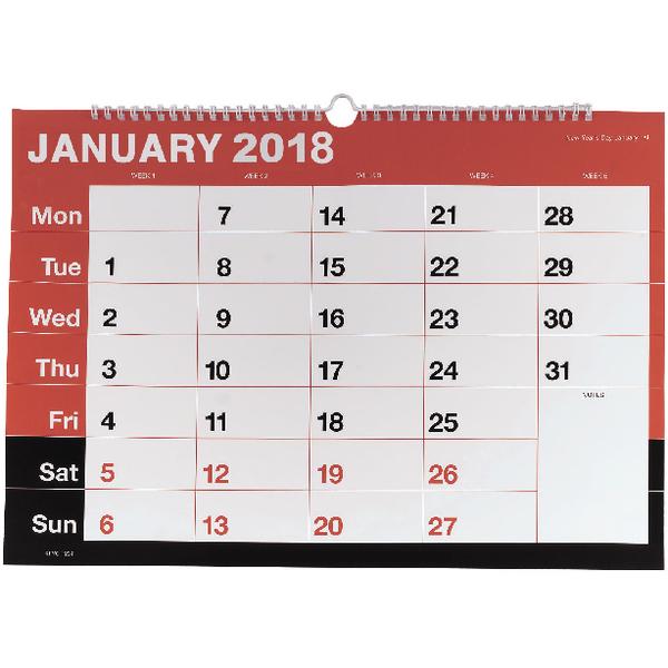 wirebound a3 monthly 2018 calendar kfyc2318