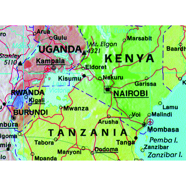 Map Marketing Giant World Political Laminated Map Gwld The Office