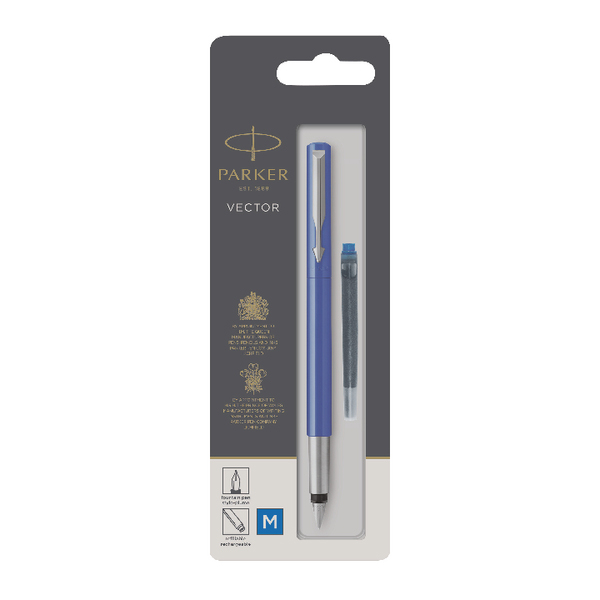 Parker Blue Vector Fountain Pens Standard (Pack Of 6) S0881010