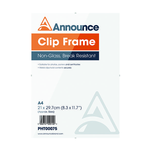 Announce A4 Clip Frame PHT00075 - Office Monster - Service-Led ...