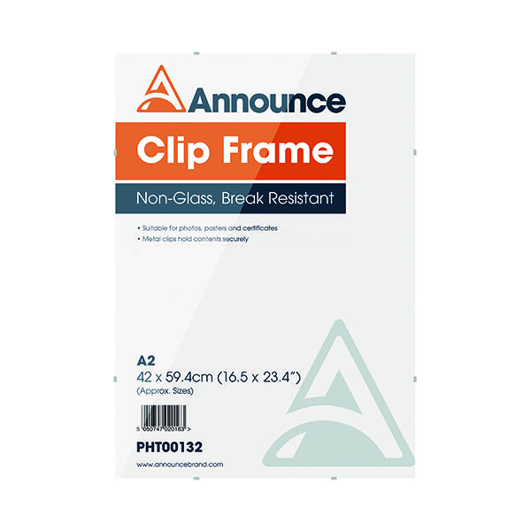 Announce A2 Clip Frame PHT00132 - Norwich Office Supplies - Office ...