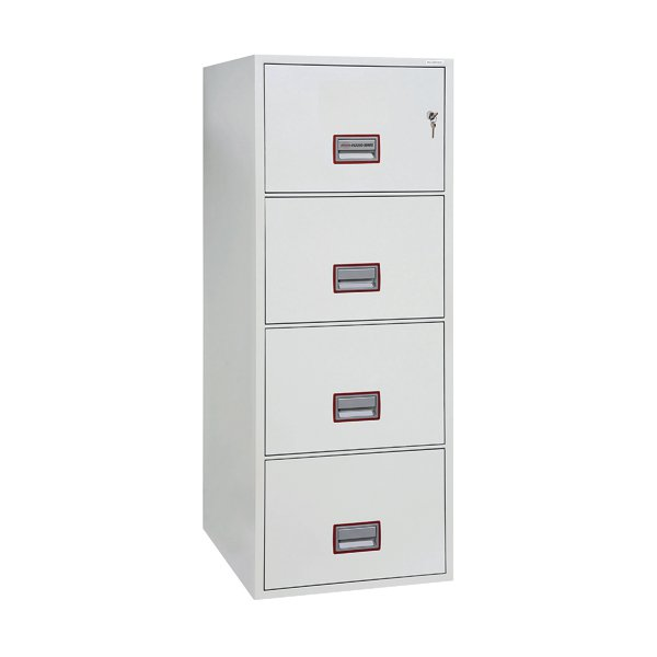 Phoenix White 4 Drawer 90 Minute Fire Rated Filing Cabinet FS2254K