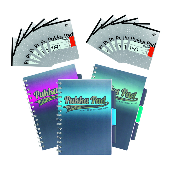 Pukka Pad 160 Pages A5 Headbound Writing Refill Pad Margin Feint Ruled Pack of 6