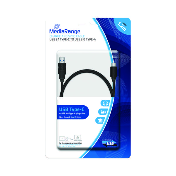 MediaRange Charge and Sync Cable USB 3 1 Type-C MRCS160 - Mr Ink