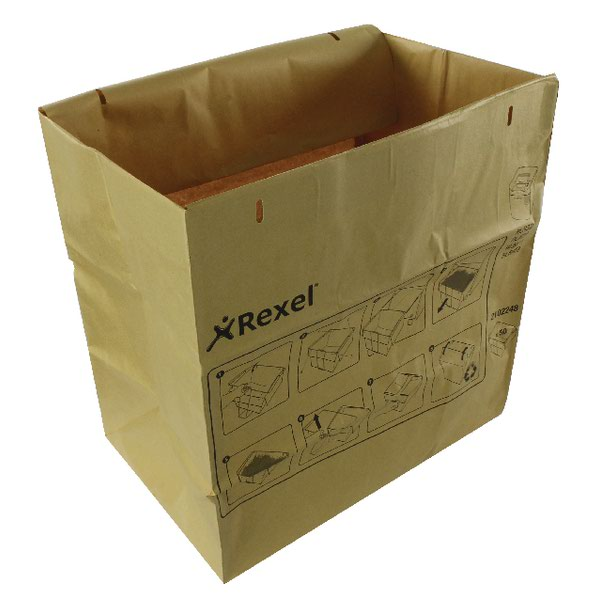 Rexel Brown Recyclable Paper Shredder Bags Pack Of 50 2102248