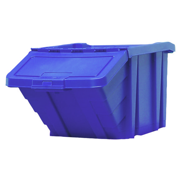 VFM Blue Heavy Duty Recycle Storage Bin With Lid 369044