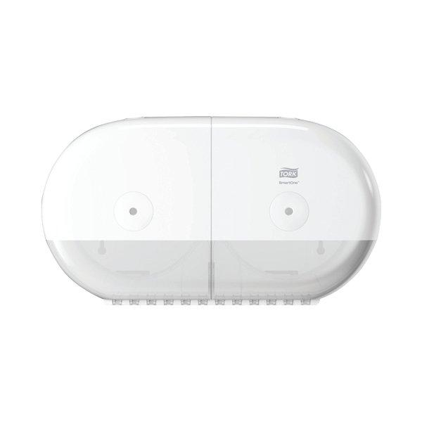 Tork T9 Smartone Twin Mini Toilet Paper Dispenser White