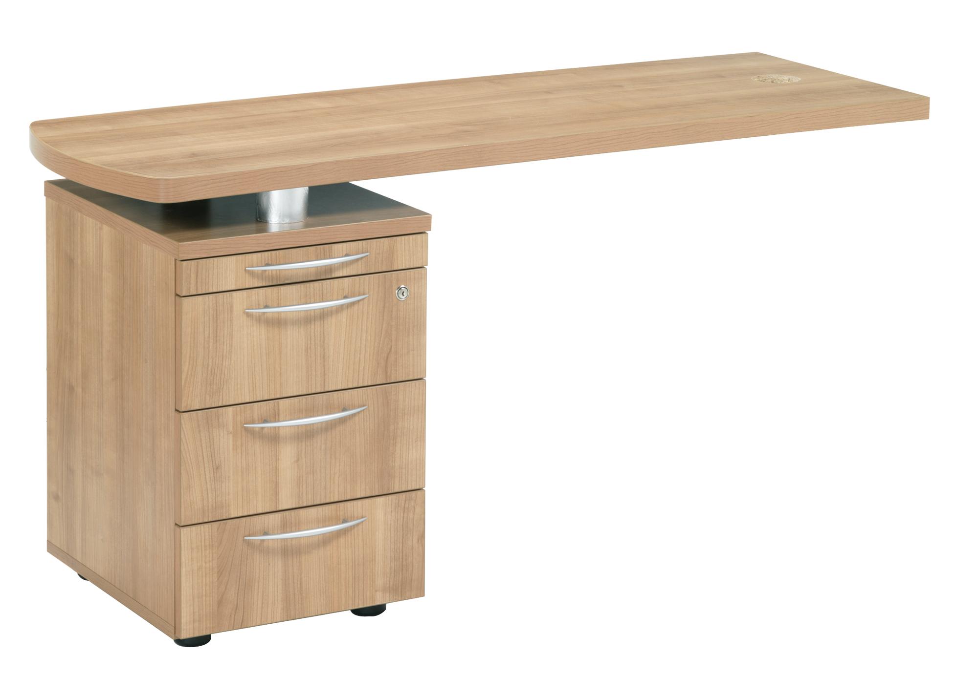 Executive Desk Side Return 3 Drawer 1380x480x700mm Ref