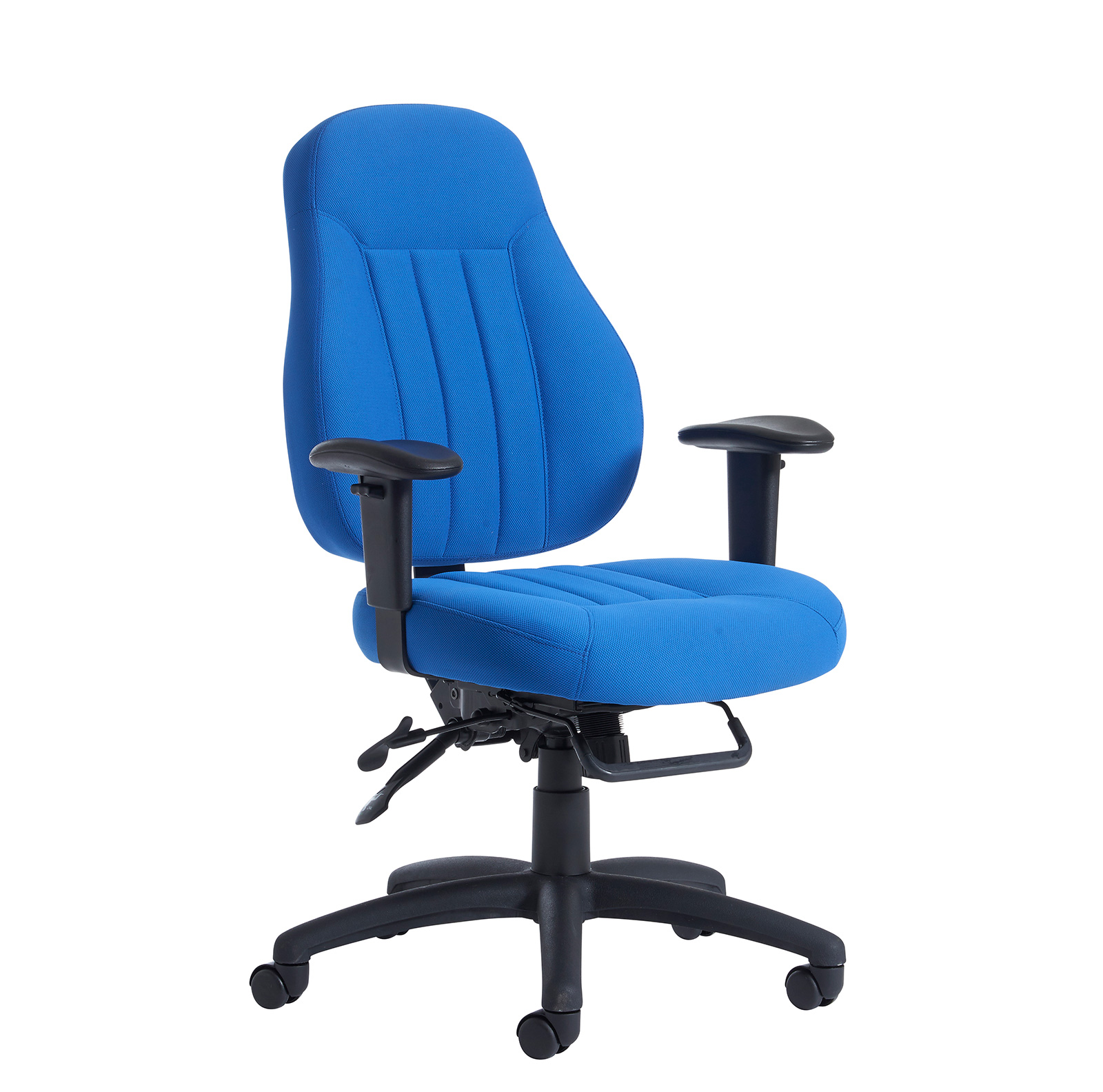 Compare retail prices of Zeus medium back fabric 24hr task chair - black to get the best deal online
