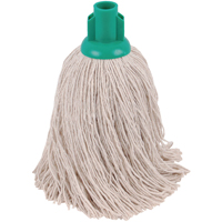 Compare prices for 2Work 14oz Twine Rough Socket Mop Green Pack of 10 PJTG1410I