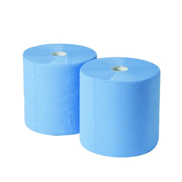 Compare retail prices of 2Work 170mx250mm 3-Ply Blue Industrial Roll Pack of 2 GEM503B to get the best deal online