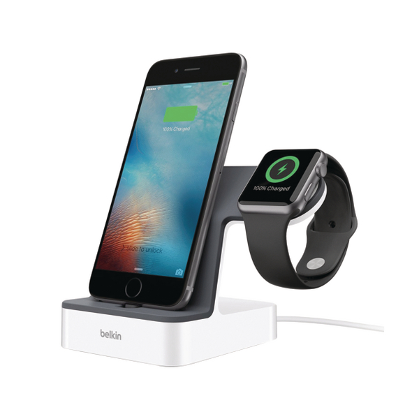 Belkin PowerHouse Charge Dock for Apple Watch and iPhone F8J200VFWHT cheapest retail price