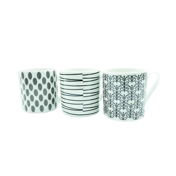 Compare retail prices of 11oz Squat Mugs Dots and Stripes Black and White Pack of 12 P1160119 to get the best deal online
