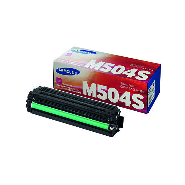 Compare retail prices of Samsung Toner cartridge M504S CLT M504SELS Original Magenta 1800 pages to get the best deal online