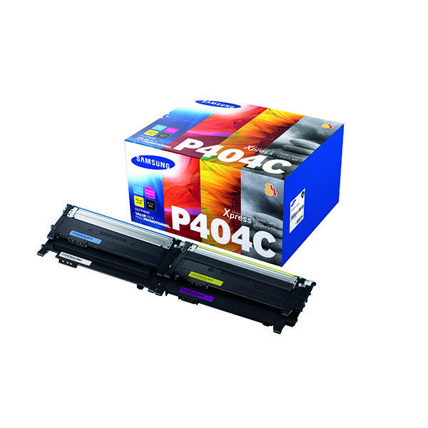 Compare retail prices of Samsung CLT P404C CMYK Standard Yield Toner Cartridges Pack of 4 SU3 to get the best deal online