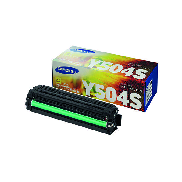 Compare retail prices of Samsung Toner cartridge Y504S CLT Y504SELS Original Yellow 1800 pages to get the best deal online