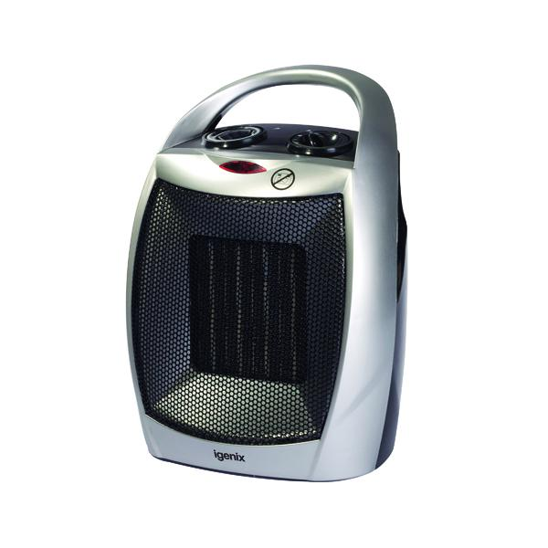 Compare retail prices of 1.8kW PTC Ceramic Fan Heater Silver IG9030 to get the best deal online