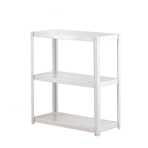 Compare retail prices of Zamba White 3-Shelf Boltless Shelving ZZLS3WH078B07030 to get the best deal online