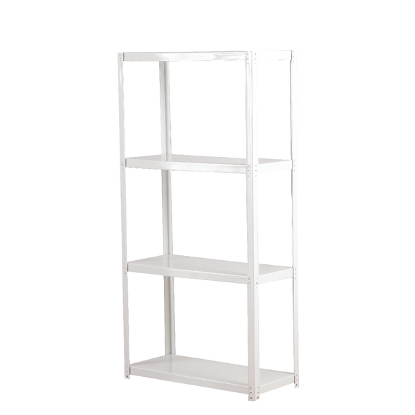 Compare retail prices of Zamba White 4-Shelf Boltless Shelving ZZLS4WH140B07030 to get the best deal online