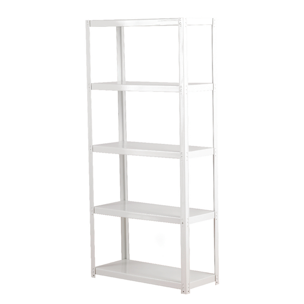 Compare retail prices of Zamba White 5-Shelf Boltless Shelving Unit ZZLS5WH150B07030 to get the best deal online