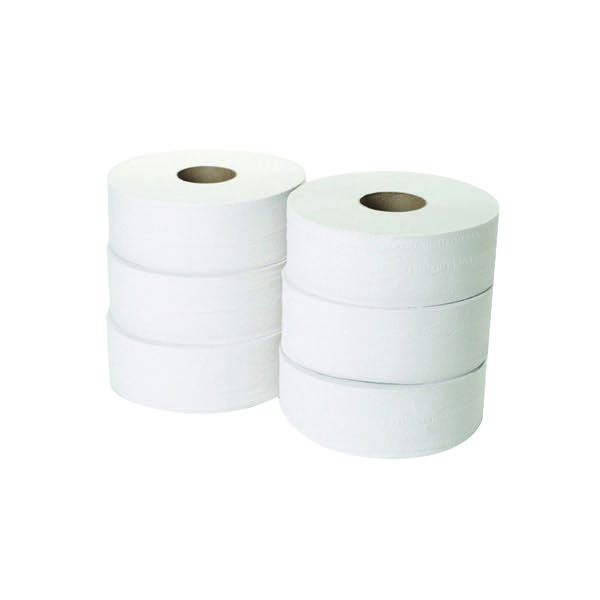 Compare retail prices of 2-Ply Jumbo Toilet Roll 300 Metres Pack of 6 JWH330 to get the best deal online