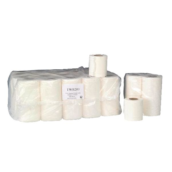 Compare retail prices of 2-Ply White 200 Sheet Toilet Roll Pack of 36 TWH200T to get the best deal online
