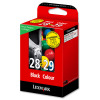 Lexmark No. 28 and No. 29 Inkjet Cartridge Page Life 175/150pp Black/Colour Ref 18C1520E [Pack 2]