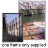 Business Snap Photo Frame with Non-glass Polystyrene Front Back-loading A4 220x17x307mm Silver