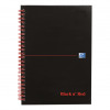Black n Red Notebook Wirebound 90gsm Ruled Recycl Perforated 140pp A5 Glossy Black Ref 100080113 [Pack 5]