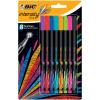 Bic Intensity Fine Writing Felt Pen 8 Assorted Bright Colours Ref 942075 [Pack 8]
